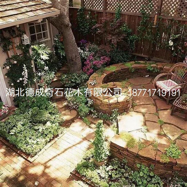 庭院铺路石汀步石景墙石批发示例图7