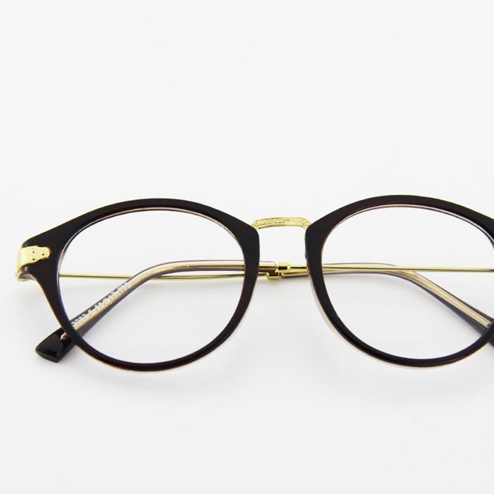 新款復古圓框眼鏡男女款眼鏡框街拍潮人平光鏡框架眼鏡 643