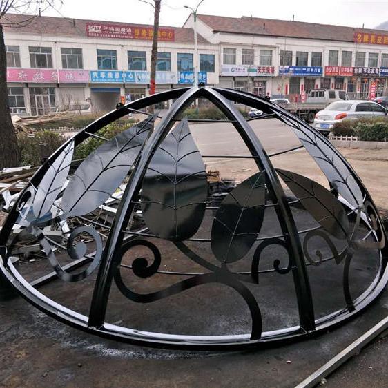 生產定做圓頂亭,歐式景觀亭,鐵藝穹頂,方頂亭