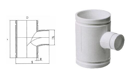 沟槽式hdpe超静音排水管,HDPE沟槽管,异径三通现货,沟槽PE管示例图9