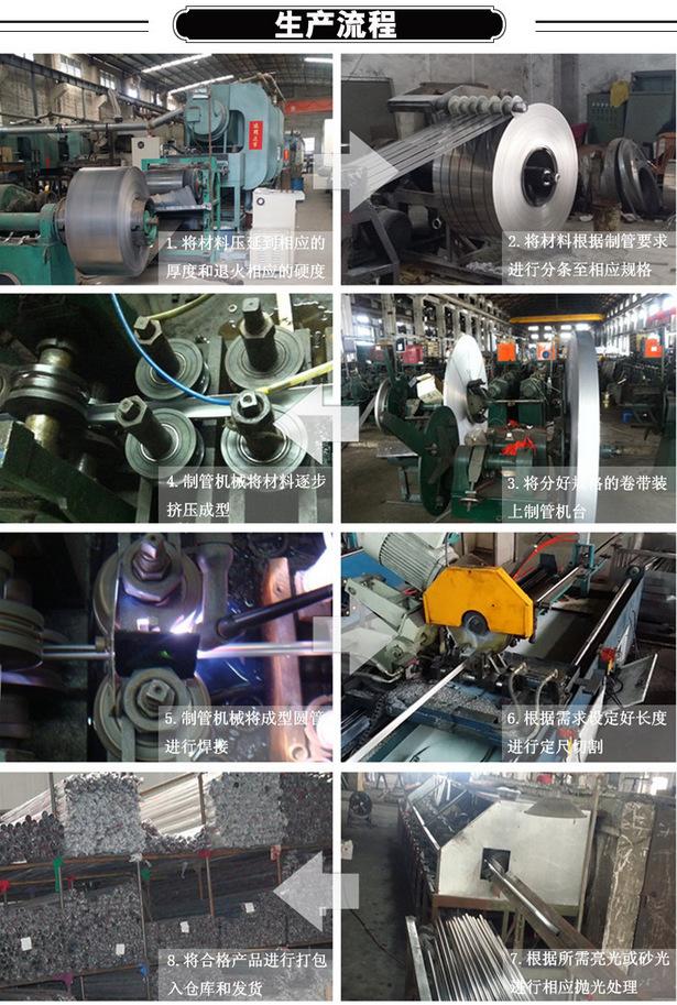 304 316L不锈钢工业大管 建筑工地 机械设备用管 价格实惠示例图15