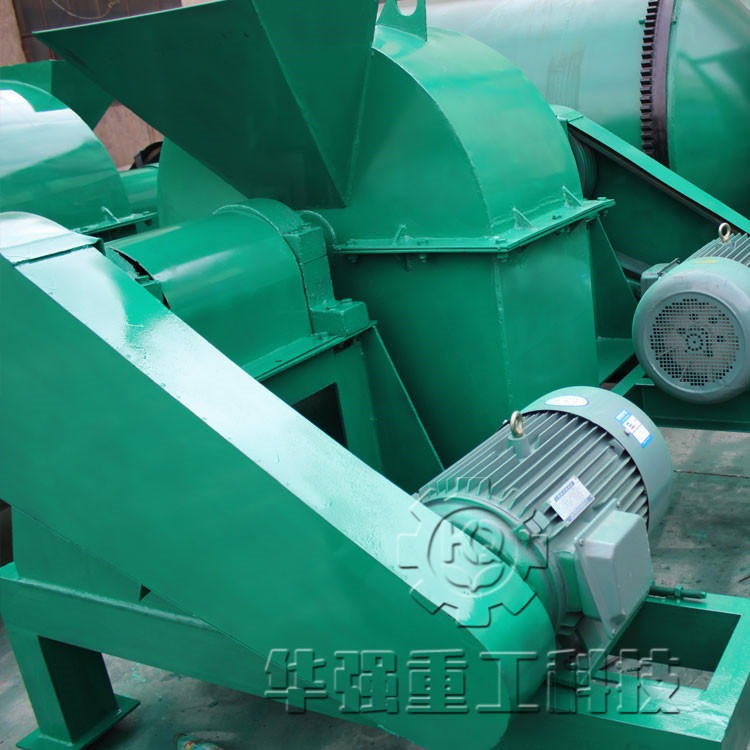華強 復合肥生產線成本低 質量好 有機肥設備 籠式粉碎機 密封性好