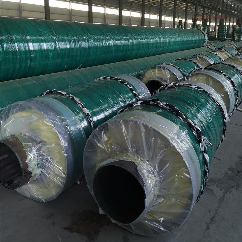 暖气输送热水聚氨酯保温钢管 聚氨酯发泡保温钢管厂家直销