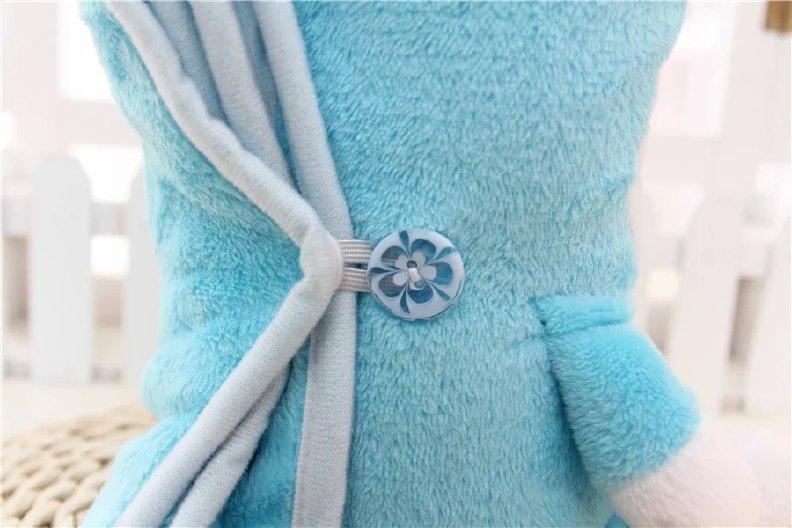 电脑���m�e+�i)�aj_【卡通大象粉兔KT小动物波点拼接珊瑚绒毯折叠卷毯儿童空调毯