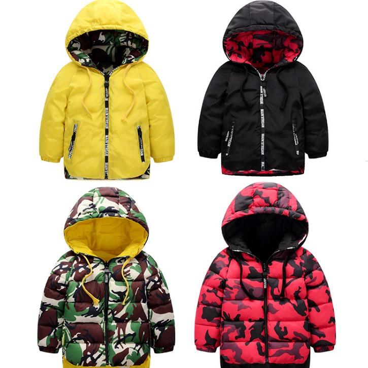 艾蒙斯廠家直銷2019新款兒童棉襖 冬裝加厚保暖男童連帽棉衣外套廠家批發