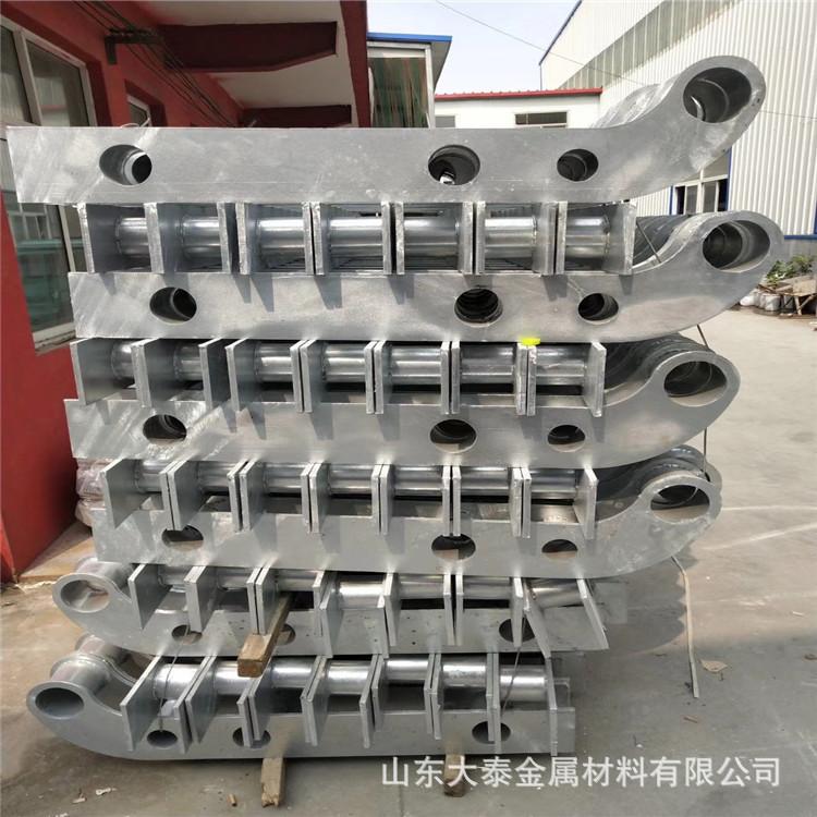 護欄鋼板立柱 不銹鋼復合管護欄鋼板立柱 防撞護欄鋼板立柱加工示例圖9