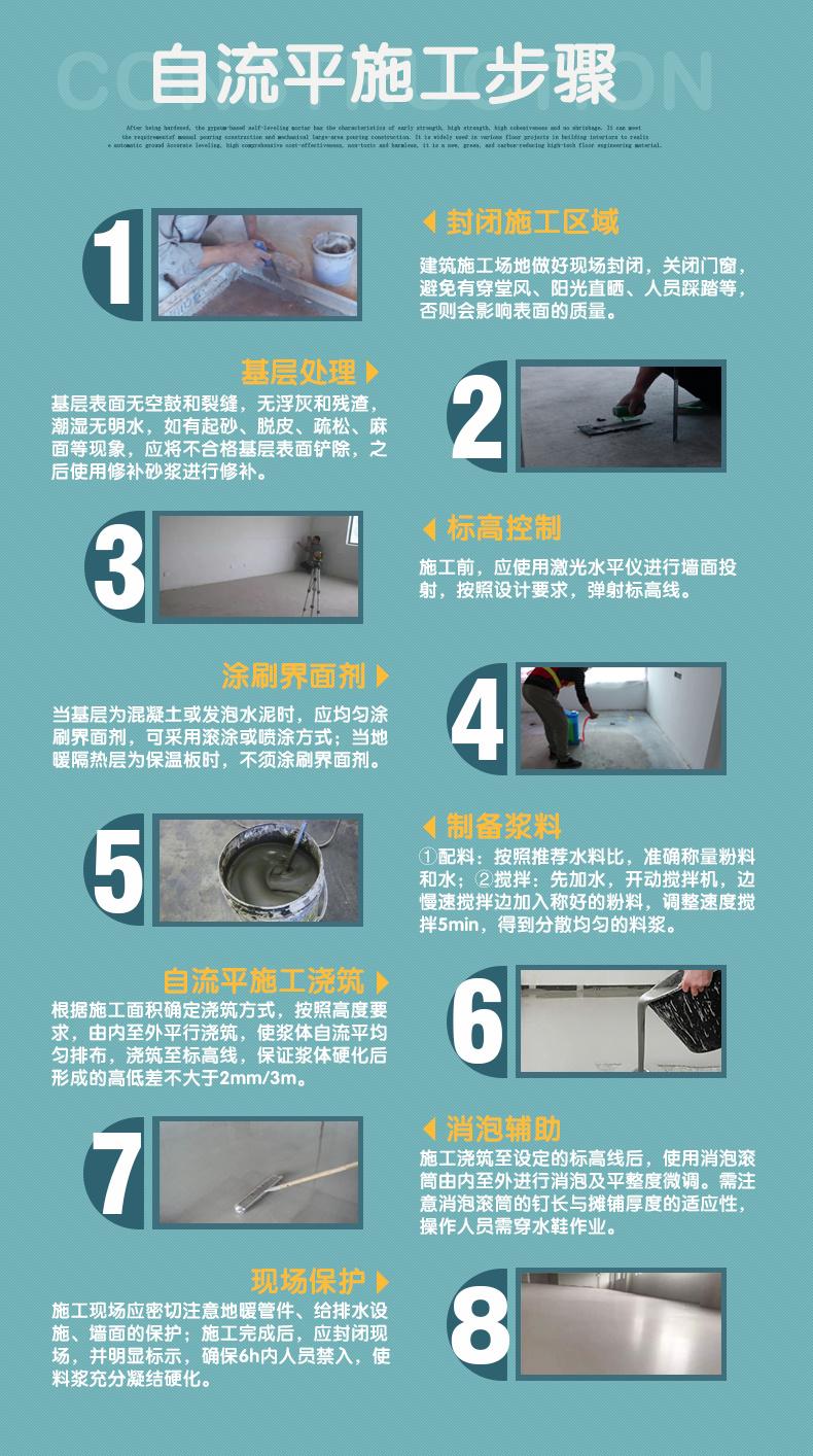武汉石膏砂浆厂  地面找平石膏自流平砂浆 石膏自流平生产厂家示例图7