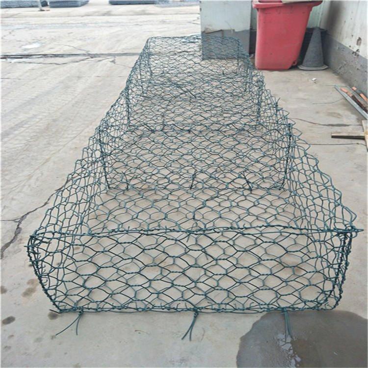 涂塑石籠網 灰色格賓籠 抗腐蝕鉛絲石籠 泰同石籠網廠家 直供銷售