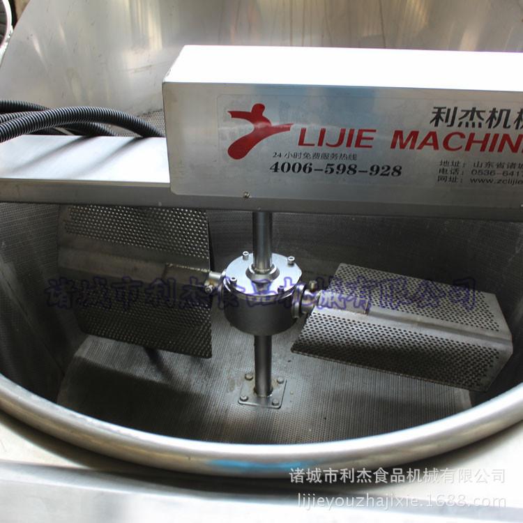 利杰LJ-1200红薯丸自动油炸锅油炸萝卜丸子电加热油炸锅自动上料出料油炸锅叫工定做示例图5