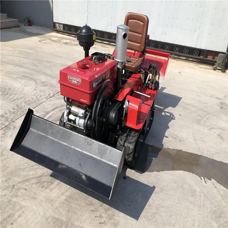 大棚用履带ζ 旋耕机 25马力多功能田园管理〓机 裕丰果园手上用履带拖拉机