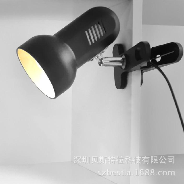 插電式簡易寢室床頭夾式LED臺燈 創意護眼宿舍書桌學習寫字夾子燈