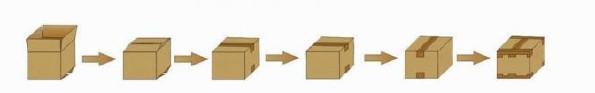 四角边封箱机|'工'字型封箱机|全自动胶带封箱机|自动封箱机示例图4