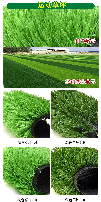 仿真草坪人造草 假草坪地毯 幼兒園彩色草皮人工塑料假草綠色戶外示例圖15