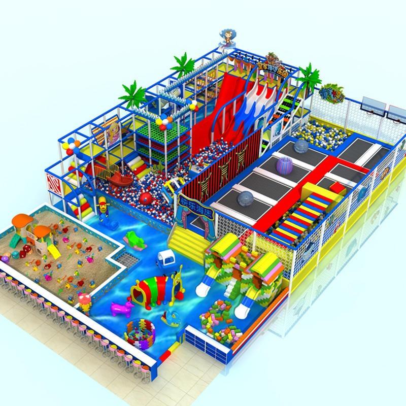 温州贝多罗厂家定制室内大型蹦床儿童乐园亲子游乐场 室内组合大滑梯淘气堡儿童游乐设施