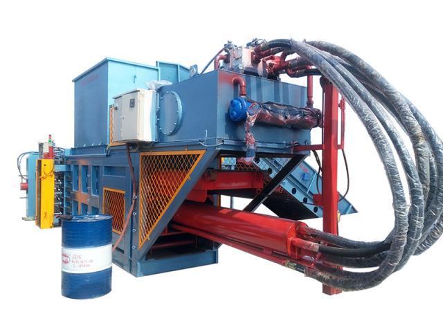 全自动废纸打包机 再生资源回收站设备 全自动打包机 全自动压缩打包机 YW220-1/360-1 临清乐嘉机械专业生产示例图1