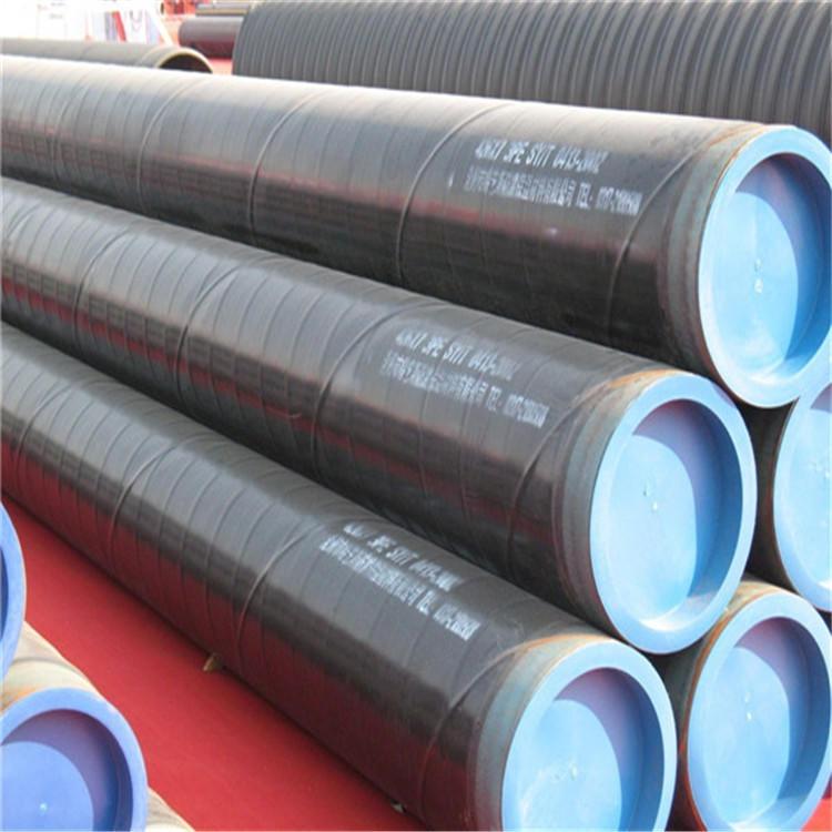 小口径输水防腐钢管 普通级聚乙烯3PE防腐钢管