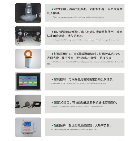 工业集尘器  JC-15布袋工业集尘器 大功率15Kw高效过滤除尘吸尘器示例图4