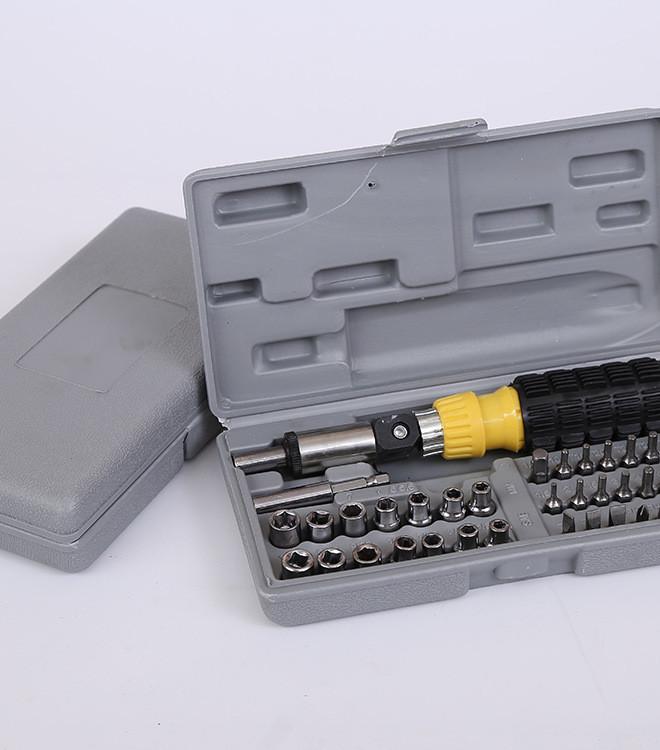 41PC家用塑柄组合工具 手动组合套餐 螺丝刀套装 五金工具示例图7