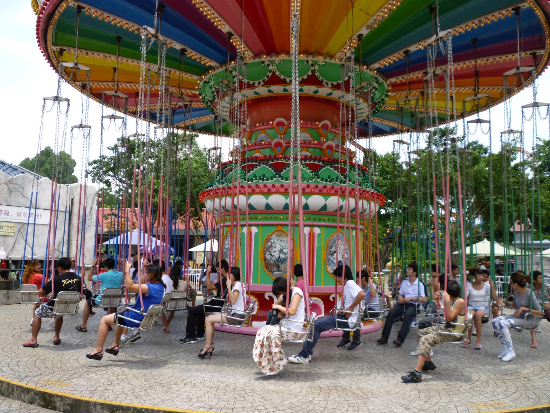 新品上市大型游乐设备飓风飞椅 郑州大洋升降摇头24座豪华飞椅示例图8