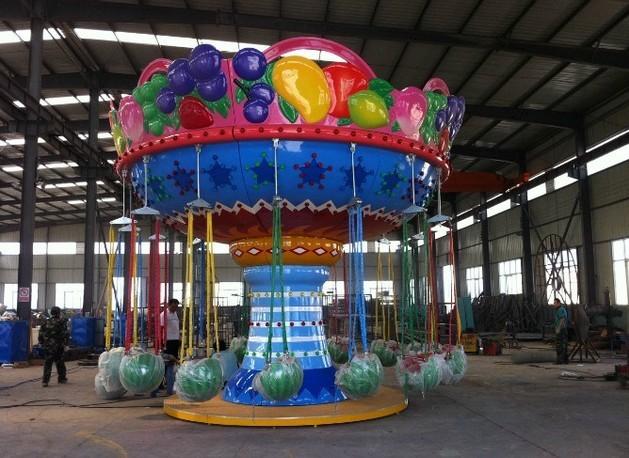 2020豪华16座西瓜飞椅游乐设备 厂家直销 郑州大洋公园项目水果飞椅示例图5