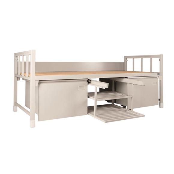 工廠員工鐵架床單層床床上下鋪鐵床宿舍雙層部隊高低鐵床