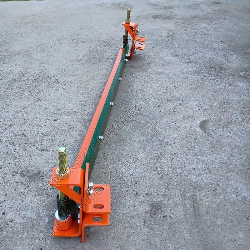 马丁清扫器空段一字型清扫器输送机空段聚氨酯斜式回程可逆清扫器