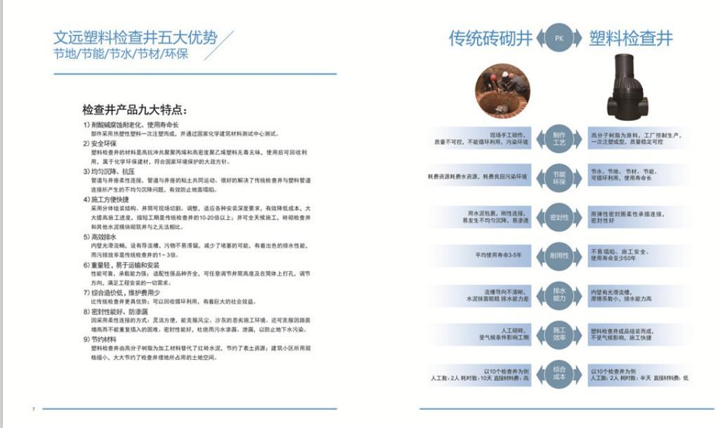 山东注塑检查井/雨水污水检查井/500大口径检查井/厂家直销示例图6