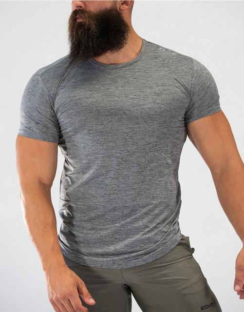2019夏季新款肌肉兄弟运动健身短袖t恤速干健身衣训练健身衣男