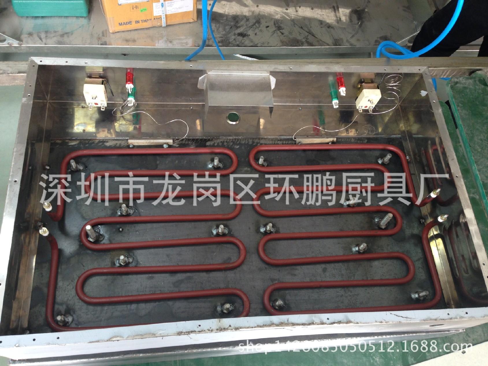 厂家直销不锈钢820电平扒炉煎饼炉加厚扒板双 4.2kw 炊事设备示例图57