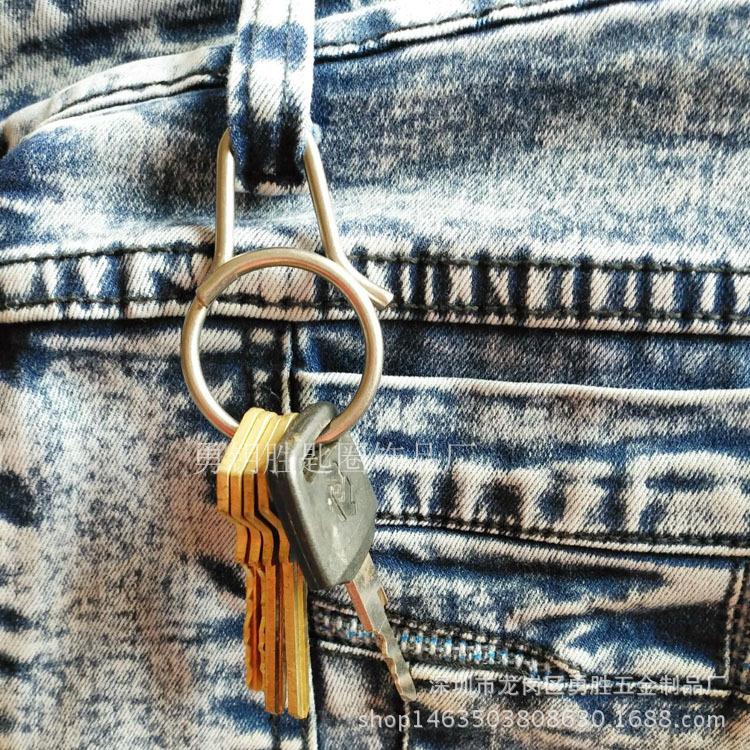 一體快拆式鑰匙扣 創意鈦合金匙圈掛件 原創設計男女鑰匙環示例圖4