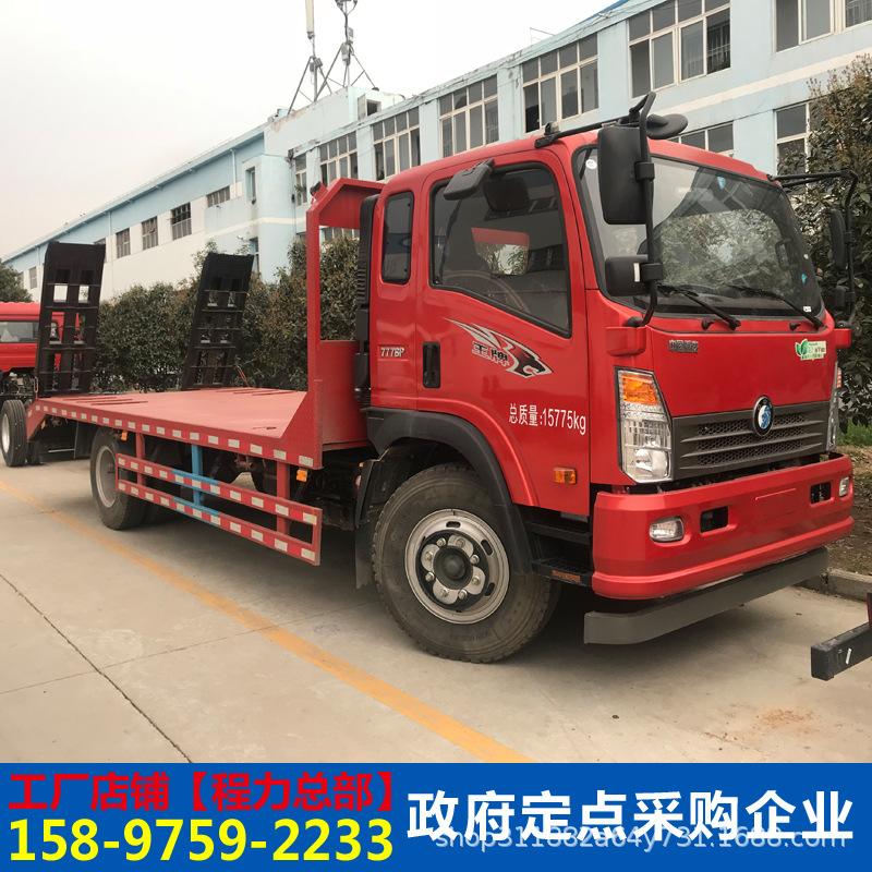 東風多利卡12噸挖掘機平板運輸車挖機平板拖車工程機械運輸車廠家示例圖18