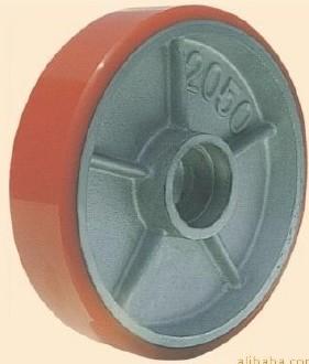 【兴隆脚轮】出口装厚铁芯聚酯叉车后轮批发 规格2050装6204轴承