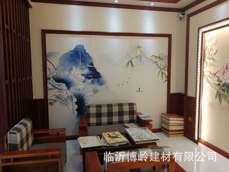 高端定制 沙发客厅卧室床头玄关背景墙 5D皮雕艺术背景墙示例图15