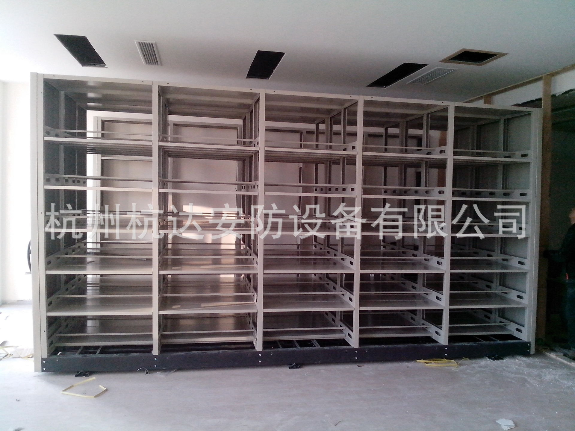手動移動密集架鋼質文件柜品牌文件柜鋼質辦公家具杭州密集柜廠家