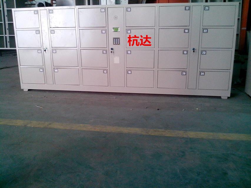公司刷卡联网电子更衣柜杭州第九中学校联网书包柜储物柜示例图12