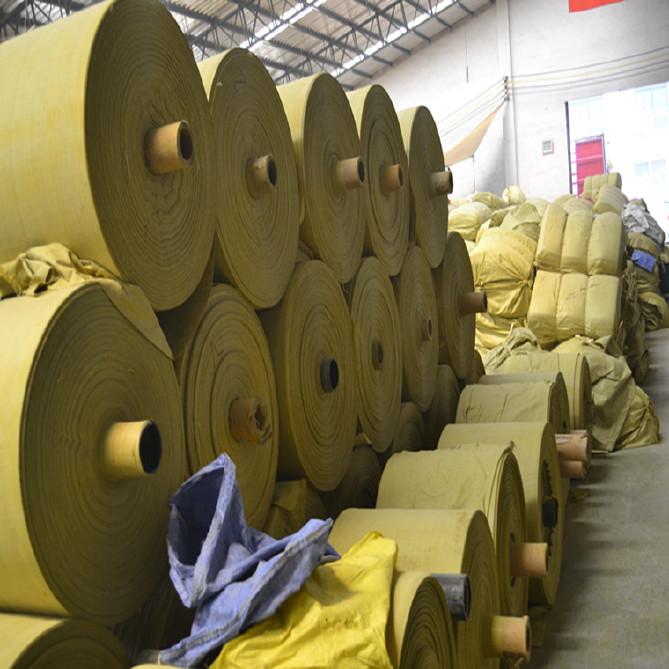 PP編織袋筒料生產廠家直銷黃色半成品布卷 開邊編織布可加工定做