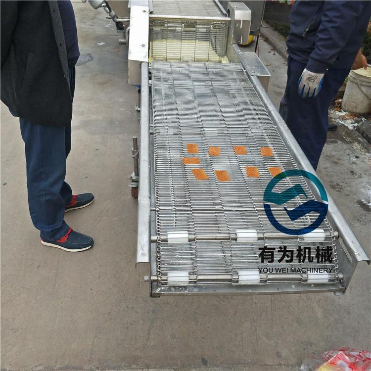 平鋪式肉排上粉機 有為牌YW雞肉排裹糠 上粉機 廠家定制鱈魚片上漿機