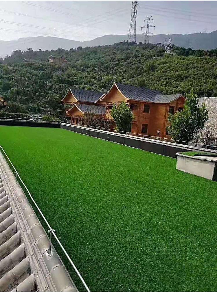 仿真草坪人造草 假草坪地毯 幼儿园彩色草皮人工塑料假草绿色户外示例图7