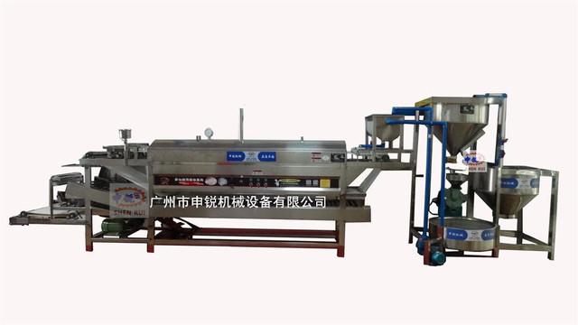申銳新款河粉機生產線、自動洗米磨漿抽漿、多功能腸粉機、全自動河粉機 、涼皮機、米皮機、 卷粉機