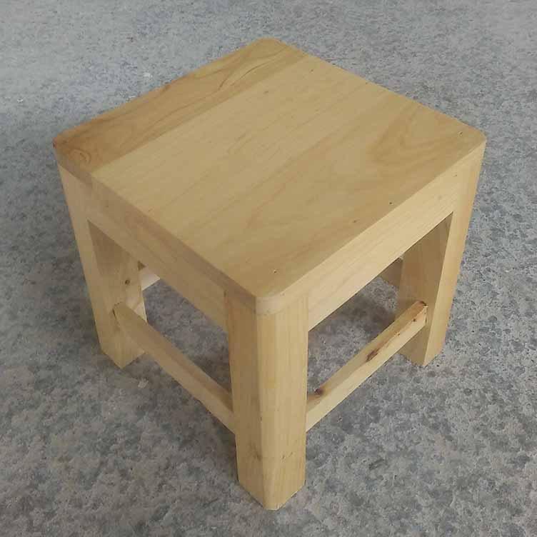 鑫繁木业直销柏木家用小方凳适用凳子实木幼儿园儿童小板凳木凳示例图3