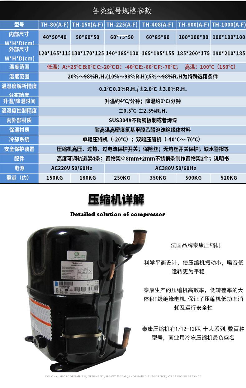 恒温恒湿箱 中型恒温恒湿箱 桌上型恒温恒湿试箱示例图4