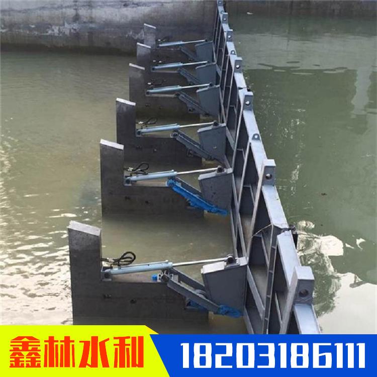 液壓合頁壩 底軸液壓鋼壩 水利工程液壓壩報價 鑫林 現貨出售