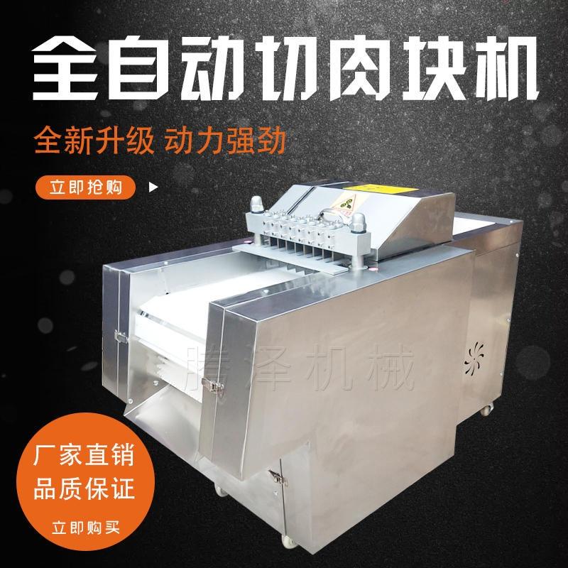騰澤商用全自動切塊機 多功能剁雞塊機 TZ-300豬肉切丁機 不銹鋼凍肉切片機 切魚塊機生產廠家
