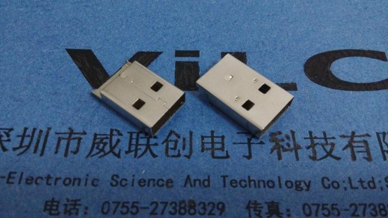USB A公外壳 黑骨架黑胶体铁壳(长:25.4,宽:12.0,高:4.50)示例图3