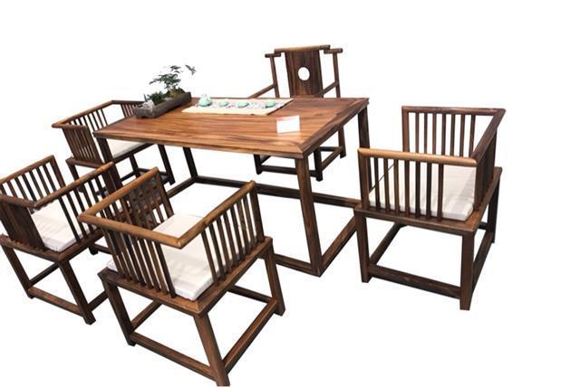 南美胡桃木茶桌六件套168*68*72可拆卖现代简约茶几实木茶桌组合示例图12