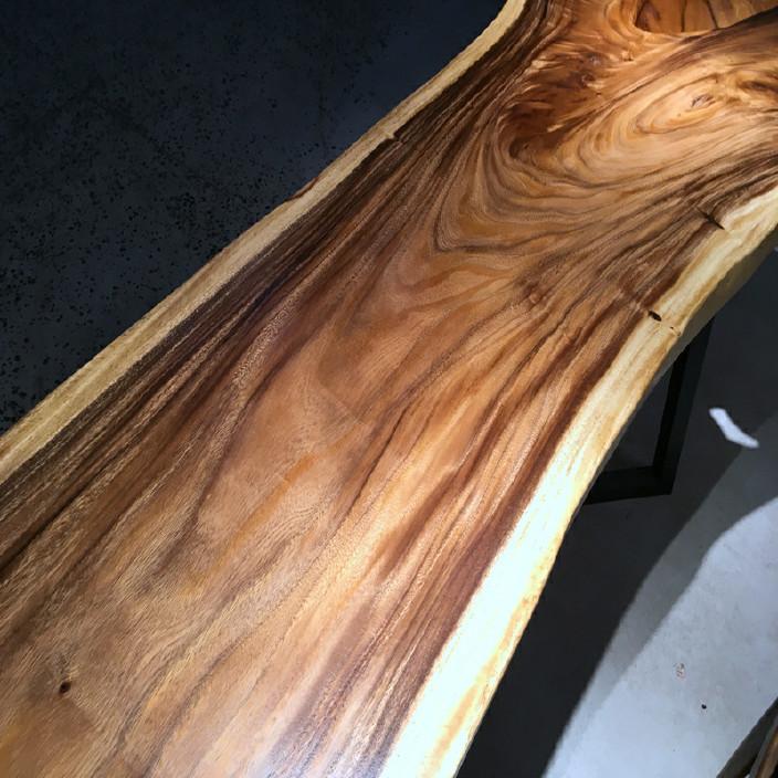 南美胡桃木实木大板餐桌胡桃木原木家具餐桌 南美花梨实木餐桌椅示例图17