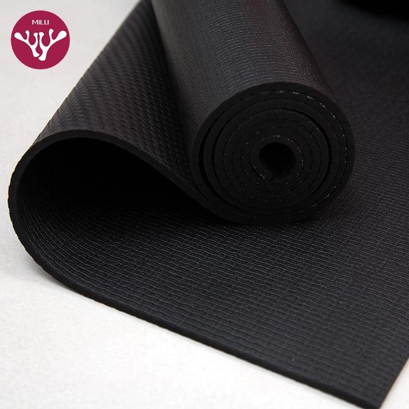 杭州朗群瑜伽墊廠家直供跨境貨源 認證起源 專供外貿 傳奇黑墊 防滑 高密度PVC黑色瑜伽墊