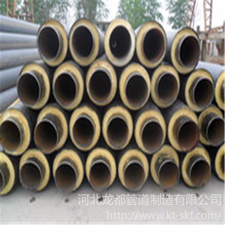 龙都直销 定制高密度聚氨酯保温管道 聚氨酯保温管 高密度聚乙烯发泡保温管 黑夹克保温管