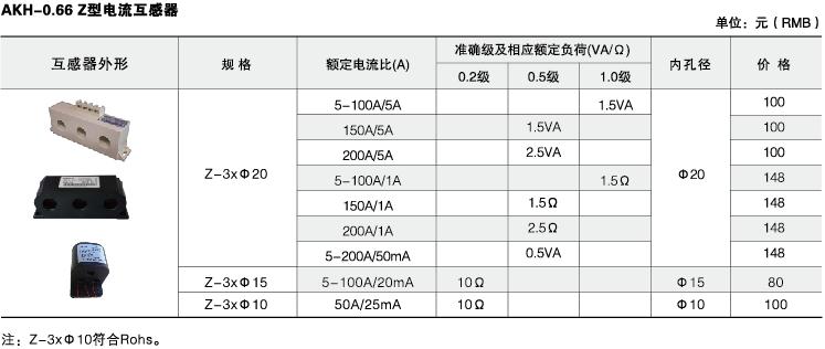 安科瑞,测量型电流互感器,AKH-0.66-60I,额定电流比1000-2500/示例图39
