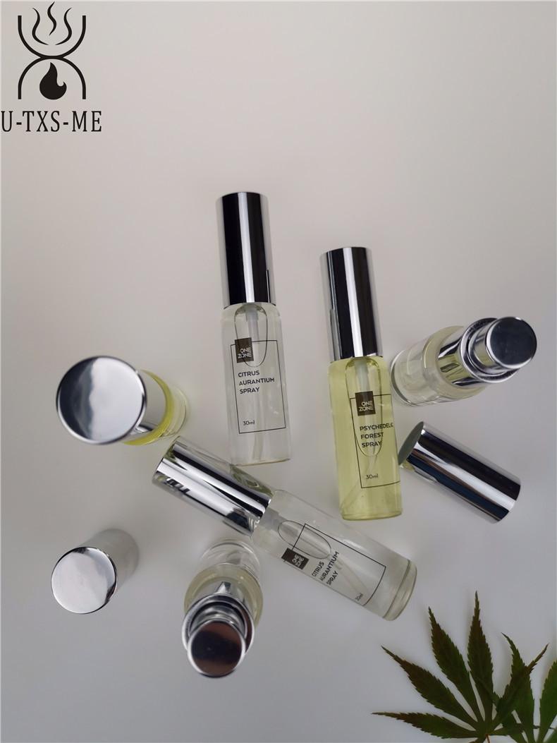 拉管香水玻璃瓶家居植物精油环保空气清新30ml圆形喷雾香薰香水示例图3